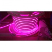 Snap Light 5 Meter LED Flexible Strip Light Neon Flex Tube Frosted Rope String Lamp For Decoration - Pink