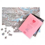 Personalized 'We First Met' Map Jigsaw Puzzle (USGS Mapping)