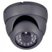 Caméra dôme IR CMOS 600 lignes 20m noir