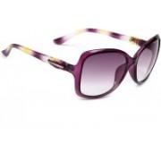 Eyeland Over-sized, Rectangular, Round Sunglasses(Violet, Clear)