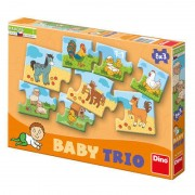 Puzzle in 3 piese La ferma Dino Toys