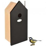 Best for birds nestkast huis koolmees hout / zwart 15x12x32 cm