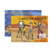 CAIET DESEN A4 16 FILE, COPERTA POLICROMIE A4 Clasa 2-a 16 file Caiet/Bloc desen
