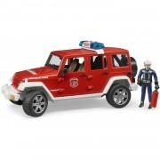 Jeep Wrangler Rubicon brandweerwagen met figuur