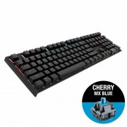 KBD, Ducky One 2, Gaming, Механична, RGB, Cherry MX Blue, USB, Black (1808-CUSPDAZT1)