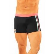 Narciso Square Cut Trunk Swimwear NATAL BLACK/CORAL