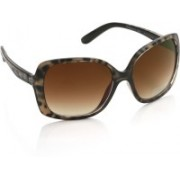 Kenneth Cole Over-sized Sunglasses(Brown)