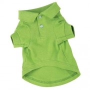 Zack & Zoey Cotton Polo Dog Shirt, XX-Large, 30-Inch, Parrot Green