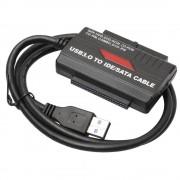 """Universele USB 3.0 naar 2.5 """"3.5"""" SATA/IDE Hard Drive Adapter met Voeding Voor 2.5 """"/3.5"""" HDD, CD/DVD-ROM, CD/DVD-RW FW1S alloet"""