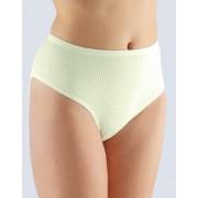 GINA Klasické kalhotky - vetší velikost rib 4x1 11029-LYB žltobílá 58-60