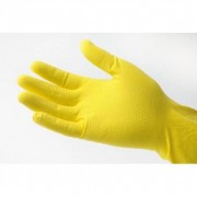 GM Equipement Gants de ménage jaunes en latex M