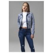 Geaca denim jacket dama - Urban Classics - PRESPALAT-ALBASTRU