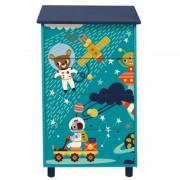 Comoda U-grow Explore the universe, cu 4 sertare, Albastru