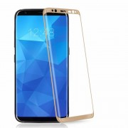 Folie Sticla Samsung Galaxy S8 g950 Gold Fullcover Tempered Glass Ecran Display LCD