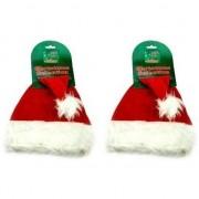 Bellatio Decorations 2x Zeer voordelige kerstmutsen dieren
