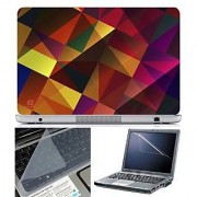 FineArts Laptop Skin Abstract Series 1052 With Screen Guard and Key Protector - Size 15.6 inch