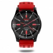 GS8 Bluetooth Smart Watch con monitor de ritmo cardiaco GPS - Negro? Rojo