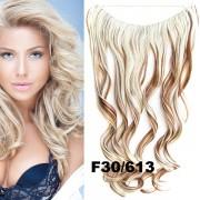 Flip in vlasy - vlnitý pás vlasů - odstín F30/613 - Světové Zboží