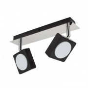 efectoled.com Lámpara LED de Techo Orientable Capri 2 Focos 12W Negro Blanco Neutro