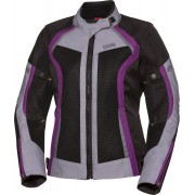 IXS Sport Andorra-Air Ladies Motorcycle Textile Jacket Black Purple M
