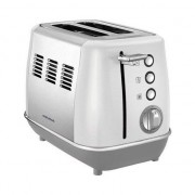 Morphy Richards Toaster Evoke 224 409, Putere 850 W, 2 sloturi, din oțel inoxidabil, alb cu oțel inoxidabil