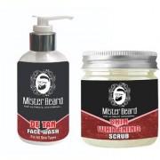 Mister Beard De Tan Face Wash 200ml WITH Skin Whitening Scrub 100g