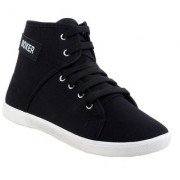 Bersache Women Black 1207 Casual Sneaker Loafer Sports Boots Shoes