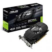 Asus PH-GTX1050TI-4G Nvidia GeForce Grafische kaart, PCIe 3.0, 4 GB DDR5-geheugen, HDMI, DVI, DisplayPort