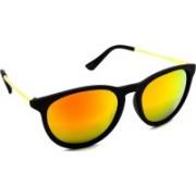 Hrinkar Oval, Round Sunglasses(Golden)