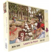 Puzzle The House of Puzzles - Learn To Paint, 500 piese XXL (56610)