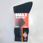 DMAX Socken im 5er Pack, Für Echte Kerle! Farbe schwarz/silber, Gr.39/42