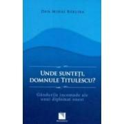 Unde Sunteti Domnule Titulescu - Dan Mihai Barliba