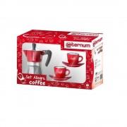 Set espresso Allegra Petra Rosu+2 cesti cafea