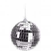 Geen Kerstboom decoratie discobal zilver 10 cm