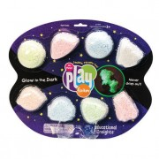 Spuma de modelat reflectorizanta, 8 bucati de spuma in culori pastel