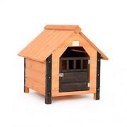 LF -Pet Supplies Cama para Mascotas casa de Perro Interior Gato Arena Madera Cuatro Estaciones Universal Villa al Aire Libre (Tamaño : S)