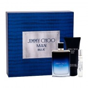 Jimmy Choo Jimmy Choo Man Blue confezione regalo eau de toilette 100 ml + eau de toilette 7,5 ml + balsamo dopobarba 100 ml uomo
