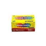 Tinta Tempera Guache Embalagem Com 6 Cores 15 Ml Cada Acrilex