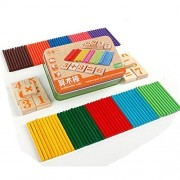 SMTSMT Kids Child Wooden Numbers Mathematics Early Learning Counting Educational Toy