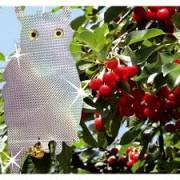 Ala Stop Sperietoare anti păsări (vrăbii, ciocănitori, porumbei, grauri, mierle, ciori, coțofene, mâncătorii de albine) hologramă de Bufniță cu clopoțel dimensiuni 20 x 40 cm