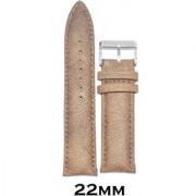 Kolet 22mm Padded Leather Watch Strap (Beige)