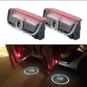 2 PCS LED Coche Puerta Bienvenido Logo Marca De Coches 3D Sombra Luz Para Porsche