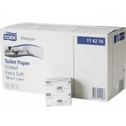 Hartie igienica pliata 2 straturi 30 pachete/bax Extra Soft Premium Tork