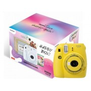 Fujifilm Kit Cámara Instantánea FUJIFILM Instax Mini 9 Clear Happy Box (Amarillo - Obturación: 1/60 s - 2 x AA)
