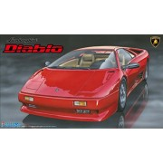 Japan Toy Models - 1/24 Rial Sports Car Series No.67 Lamborghini Diablo / 4WD VT Black Star Model Car *AF27*