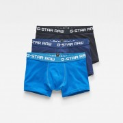 G-star RAW Hommes Classic Trunks 3-Pack Bleu moyen