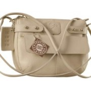 eZeeBags Women Grey Genuine Leather Sling Bag