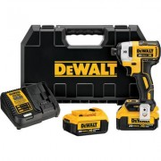 DEWALT MAX XR Brushless Impact Driver Kit - 20 Volt, 1/4 Inch Hex Drive, 3-Speed, Tw0 4.0Ah Lithium-Ion Batteries, Model DCF887M2