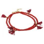 Marc Jacobs Laila Crystal Wrap Bracelet Red