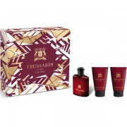 Trussardi Uomo The Red Set (EDT 30ml + SG 30ml + SG 30ml) за Мъже
